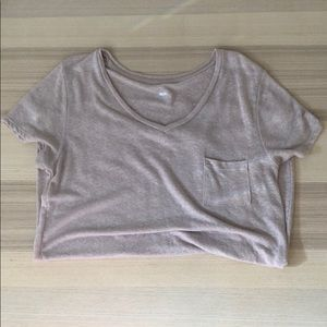 Mossimo Linen Blend Tee L